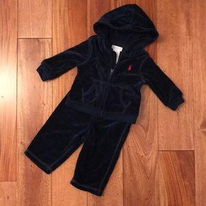 Ralph Lauren velour track suit
